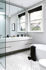 vintage black and white bathroom ideas white marble top bathroom transitional with vintage mirror module