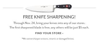 sur la table knife sharpening free sur la table black friday specials from staub nespresso and more