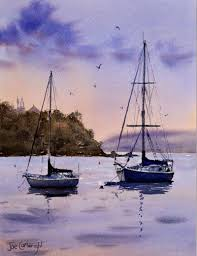 watercolor paintings boats and the sea gallery seascapes
