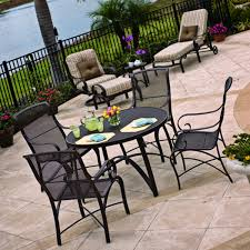 Mesh Patio Table Furniture Design Ideas Durable Patio Furniture Set For