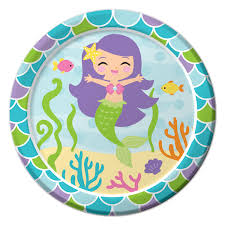 mermaid party supplies mermaid dessert plates 8