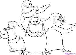 penguins madagascar coloring pages free printable penguins