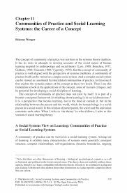 communities of practice and social learning systems the career of