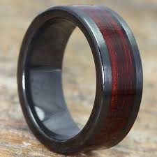 rings wooden images Hera wooden black rings flat redwood inlay forever metals jpg