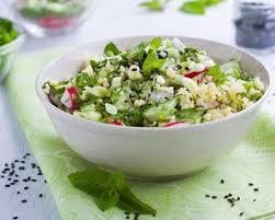 cuisiner le millet recette salade de millet aux crudités à la menthe facile rapide