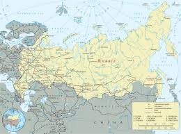 russia map russian federation europe