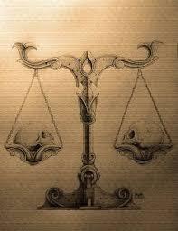 fantastic libra scale skull design tattooshunter com