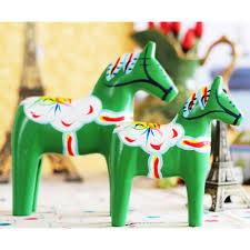 wooden crafts animal articles sweden dala horse