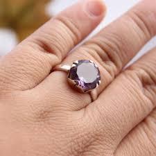 silver amethyst rings images Buy amethyst ring sterling silver ring february birthstone jpg