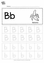 free letter b tracing worksheets little dots education