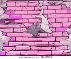 Pink Brick Wall Cool Cartoon Graffiti Guy Blue Suit Stock Vector 506010703