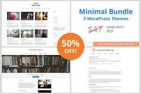 wordpress minimal themes creative market