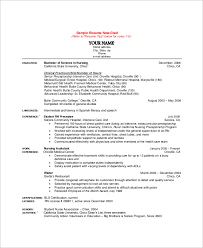 Sample Of Rn Resume by Sample Nursing Resume 10 Examples In Word Pdf