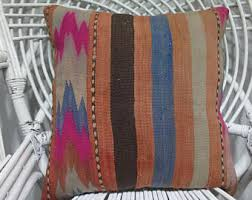 Outdoor Pillow Slipcovers Orange Kilim Pillow Etsy