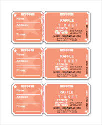 avery tickets template raffle ticket template word pinteres