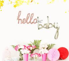 hello baby shower hello baby script balloon silver balloons script party wedding