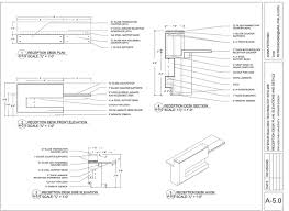 Ada Reception Desk Construction Documents Office Conference Room On Behance