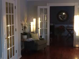 Benjamin Moore Silvery Moon New Family Room Color Living Room - Family room color