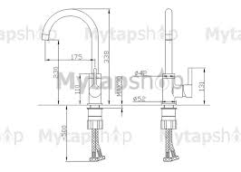 Solid Brass Kitchen Taps by Chrome Finish Solid Brass Kitchen Tap T0717 T0717 85 99