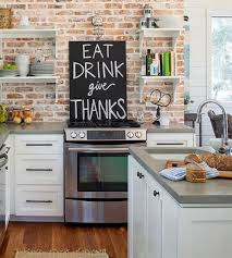 backsplash wallpaper for kitchen best 25 brick wallpaper kitchen ideas on