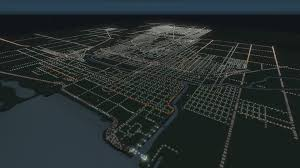 Chicago Road Map by Aerial Chicago Road Layout Citiesskylines