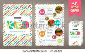 free kids menu templates clipart vector of design template for