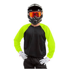 black motocross jersey canvas mx jersey black with flo yellow sleeves rival ink