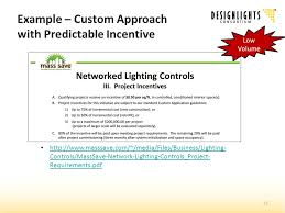 mass save lighting retrofit program national approaches to networked lighting systems dlc s calc project