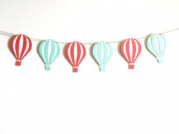 air balloon banner garland home decor party decorations