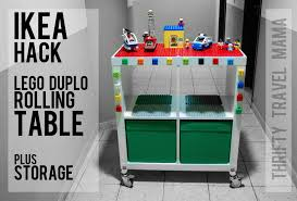ikea lego table hack ikea hack expedit lego duplo table with storage thrifty travel mama