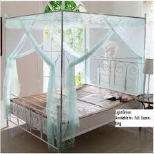 Lace Bed Canopy Light Green Lace Luxury 4 Post Bed Canopy Mosquito