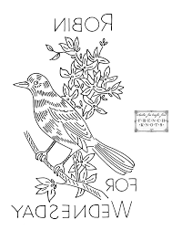 free vintage birds of a feather embroidery transfer patterns