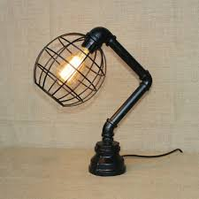 fashion style desk lamps cage table lamps industrial lighting