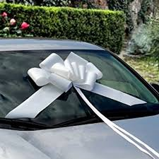 car ribbon 23 large white car ribbon bow health personal care