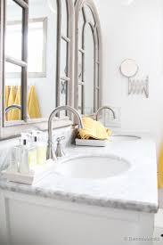 Single Vanity For Bathroom by Remodelaholic Updated Bathroom Single Sink Vanity To Double Sink