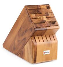 wusthof 17 slot acacia knife block