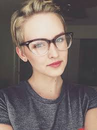 short hairstyles with glasses and bangs 9 get gorgeous makeup tips for glasses pixie cut make up and glass
