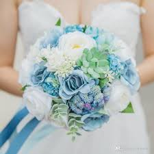 cheapest flowers janevini 2018 artificial bridal bouquets blue flowers wedding