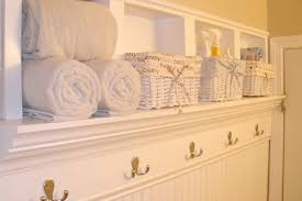 Shelves Between Studs by Remodelaholic Creating Beautiful Storage Space Within Bathroom Walls