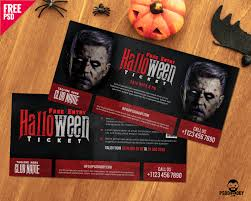 free halloween party flyer templates download halloween free entry ticket psd template psddaddy com