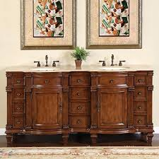 Bathroom Double Vanity by 72 Inch Large Double Sink Vanity Cabinet With Travertine Top
