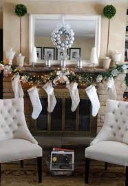 white stockings on the mantel and children u0027s book decoration