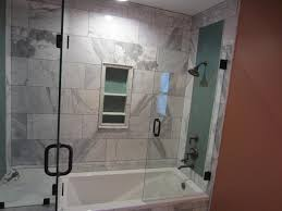 tub with glass shower door tub and shower frameless enclosure patriot glass and mirror