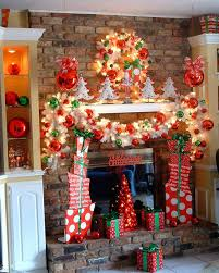Chimney Decoration Ideas Christmas Decorated Fireplace Screensaver How To Decorate Mantel