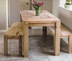 Rectangle Kitchen Table With Bench Rustic Kitchen Table With Benches That Can Slide Underneath