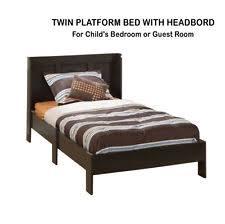 Twin Sized Bed Sauder Parklane Twin Platform Bed With Headboard Cinnamon Cherry