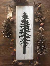 wooden pine tree wall sitka tree on white wood reclaimed wood gift rustic tree wall