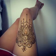 female thigh tattoo designs thigh henna henna pinterest thigh henna hennas and thighs