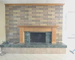 fireplace brick fireplace tile artistic color decor marvelous