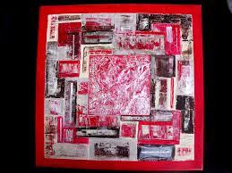 Tableau Triptyque Contemporain by 12 Tableau Peinture Moderne Contemporain Abstrait Rouge Marron